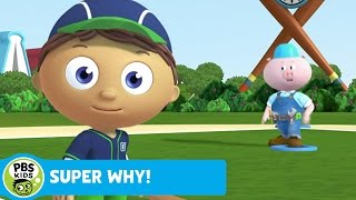 super why   whyatt practices baseball   pbs kids
