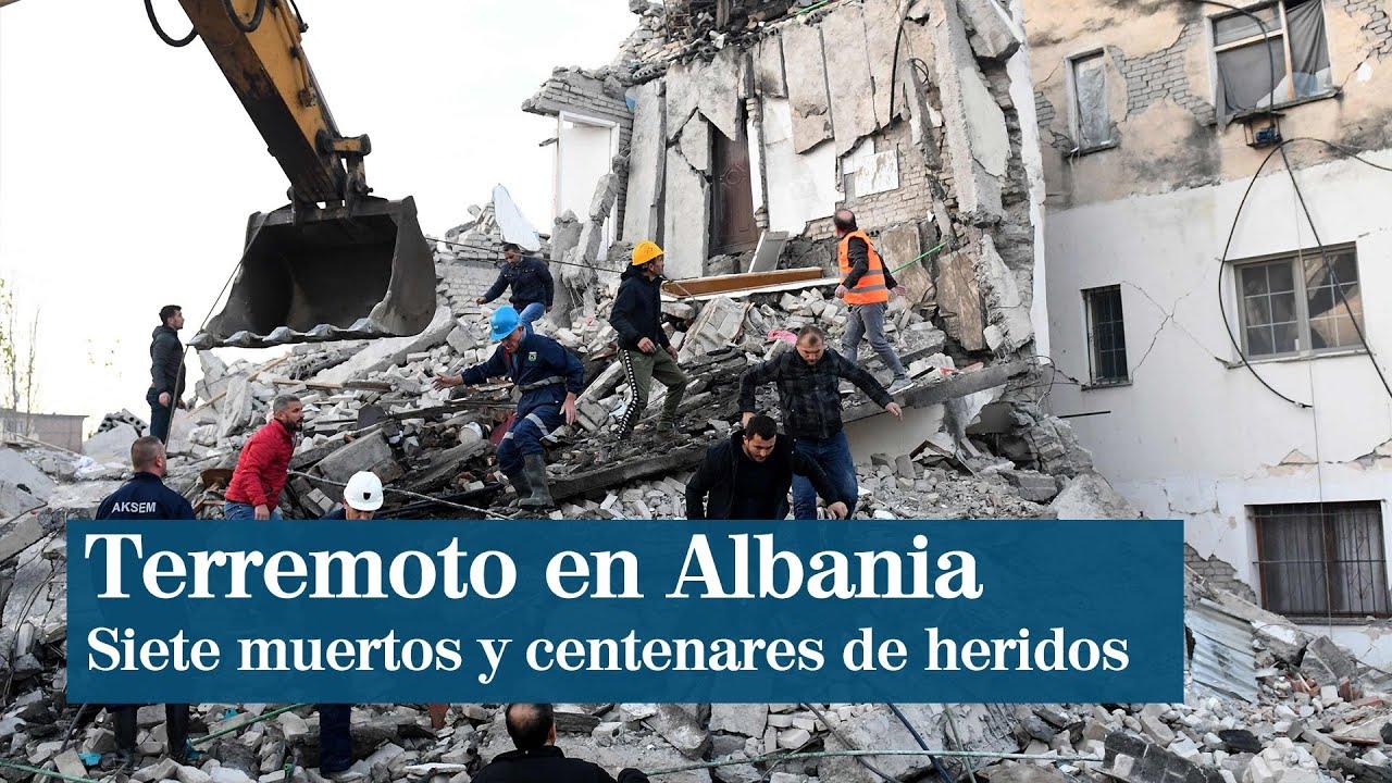 Un terremoto en Albania de magnitud 6,4 deja 13 muertos y al menos 600 heridos