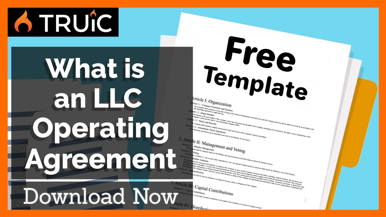 What Is An Llc Operating Agreement How To Start An Llc