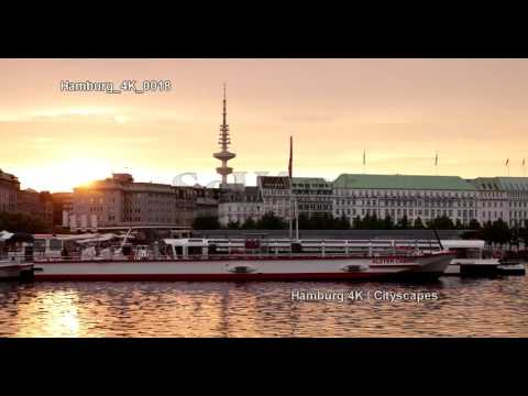 Ultra HD 4K Hamburg Germany Cityscapes Landmarks Travel Sightseeing  Tourism UHD Video Stock Footag
