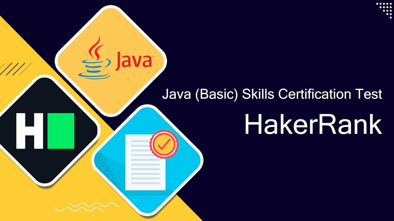 Hackerrank Java Certification Solutions