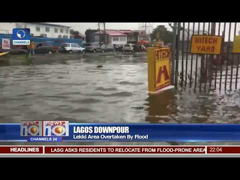 Lagos Downpour:Lekki Area Overtaken By Flood