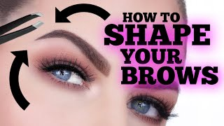 HOW TO SHAPE & GROOM YOUR EYEBROWS!!! EASY & FAST!!