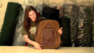 Duluth Pack Serengeti Leather Deluxe Daypack - School Backpack