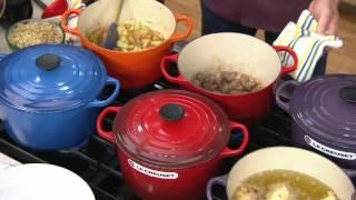Le Creuset 5.25qt Deep Dutch Oven w/ Cookbook & Ladle on QVC