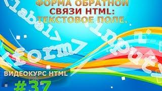 Форма обратной связи HTML: Текстовое поле. #37