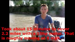 How Fast 10hp Motor Pushes 14' Jon Boat Flatbottom