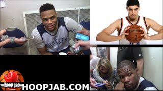 russell westbrook kevin durant on enes kanter being the 6th man of the year hoopjab