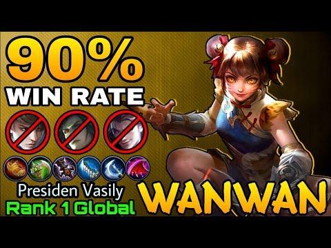 Wanwan 90% Win Rate Build - Top 1 Global Wan Wan Presiden Vasily  - Mobile Legends