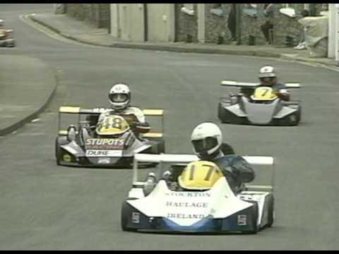 CRAZY KART RACE! 160 km/h! Isle of Man! Peel Kart GRAND PRIX 1991!