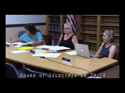 Board of Selectmen 08.29.18
