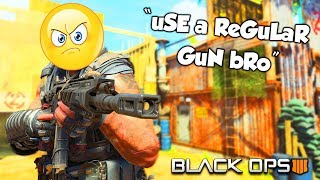 """uSE a ReGuLAR GuN bRo!"" (Black Ops 4 Knife Only Rage Reactions)"