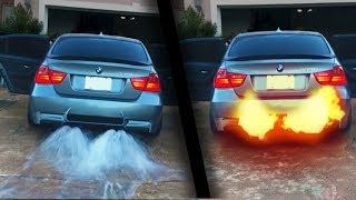 Exhausts throwing WATER, FLAMES and FOAM ! ( Epic )