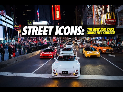 THE BEST JDM CARS CRUISE THE STREETS OF NEW YORK CITY !! STREET ICONS !! RX7 FD, NSX, SUPRA, SKYLINE