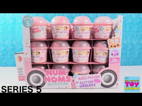 Num Noms Series 5 Scented Glitter Lipgloss Nail Polish 2 Pack Toy Review | PSToyReviews