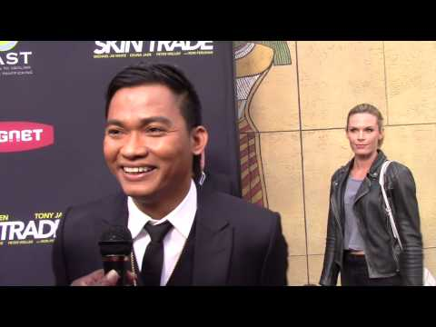 Tony Jaa Skin Trade Red Carpet Exclusive Interview