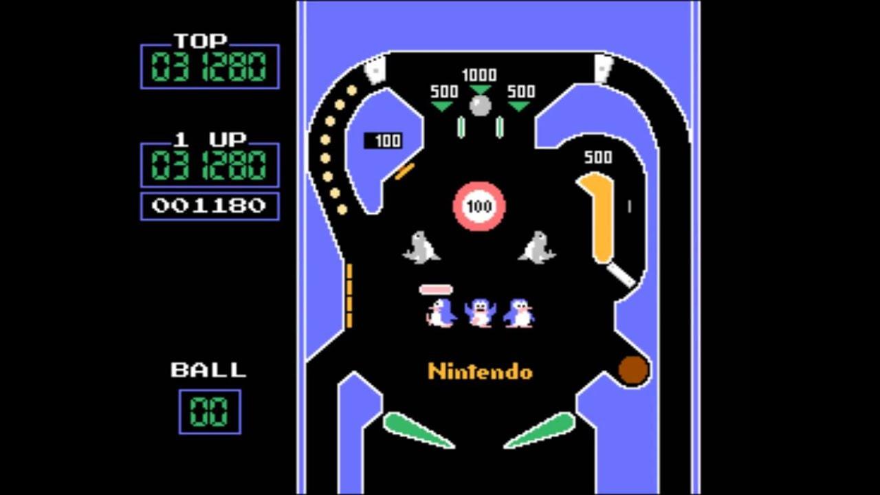 Vs Pinball Arcade Game By Nintendo 1984 Youtube