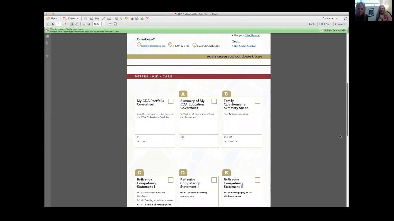 Cda Course Webinar7 Portfolio How To Part 1 Youtube