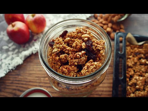 Cinnamon Cookie Granola Recipe (Vegan, Gluten-Free)