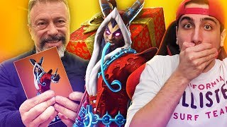 PAPA' Gives me the SKIN NATALIZIA LEGEND! Fortnite ITA!