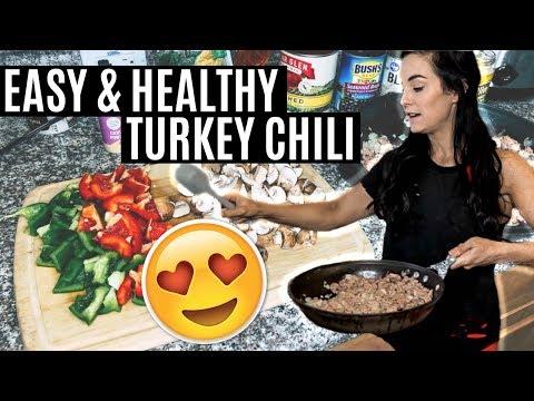 EASIEST Crockpot Turkey Chili
