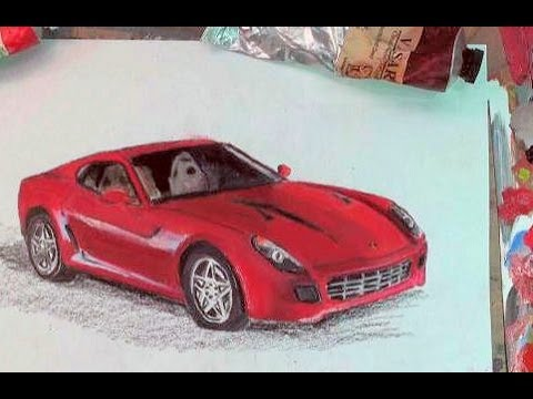 How To Draw A Car Step By Step Ferrari 599 Gtb Car Drawing Youtube