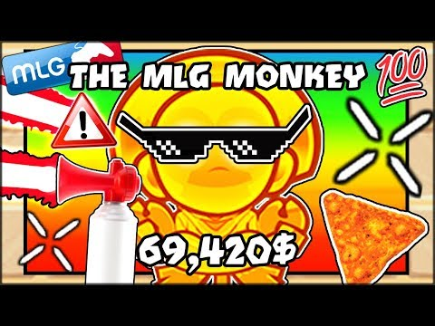 THE BEST NEW MLG MONKEY TOWER -- AIRHORN GOD ATTACK!   Bloons TD Battles Hack/Mod (BTD Battles)