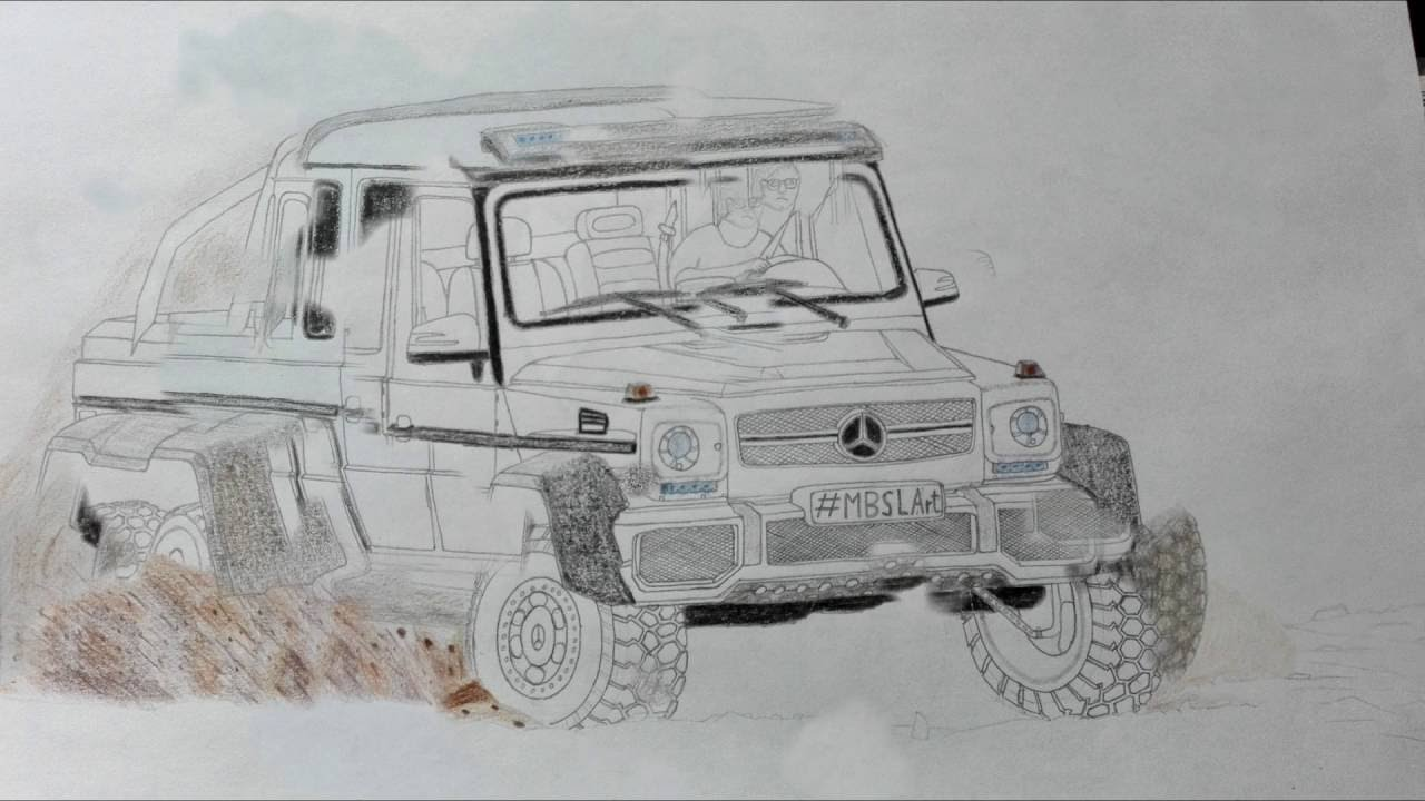 G63 Amg 6X6 >> Drawing a Mercedes-Benz G63 AMG 6x6 - YouTube
