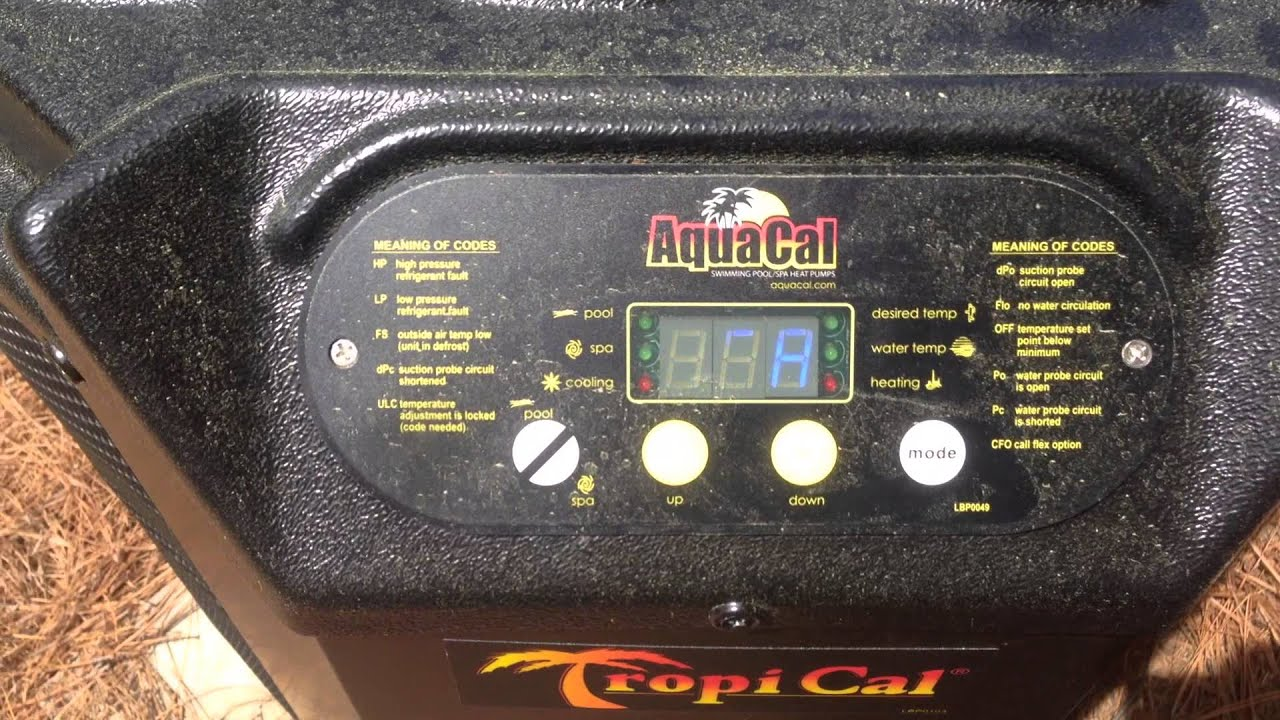 How To Operate A Aquacal Heat Pump