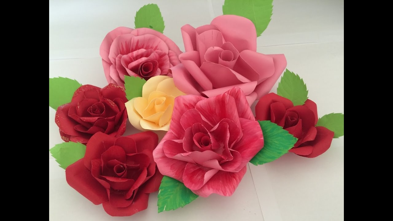 Tutorials easy way to make paper flower just like real roses diy tutorials easy way to make paper flower just like real roses diy pappersblomma youtube mightylinksfo