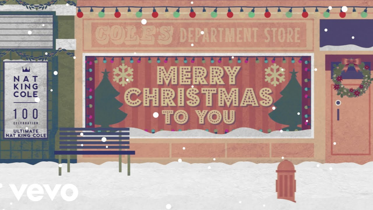 Nat King Cole - The Christmas Song (Merry Christmas To You) (Lyric Video)