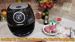 Cooking Air Fryer Filet Mignon -  It's What's For Dinner!!