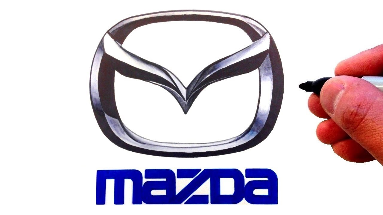 How to Draw the Mazda Logo