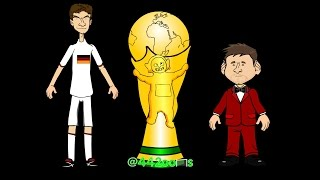 WORLD CUP FINAL HIGHLIGHTS 2014 Germany v Argentina Mario Gotze Goal (13.7.14 World Cup Cartoon)