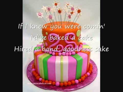 I'd've Baked A Cake-Karaoke