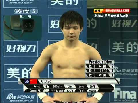 10米跳台满分大战 - 邱波vs 曹缘  Qiu Bo/Cao Yuan for 10's in World Series