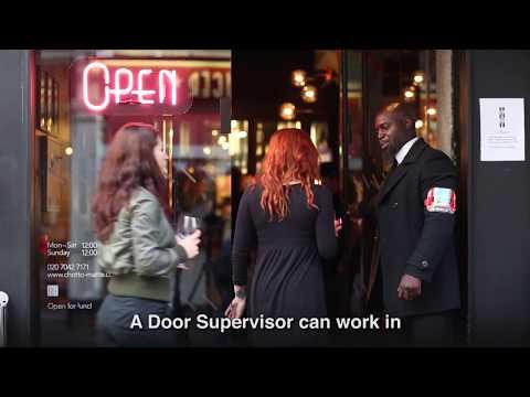 SIA Door supervisor course information