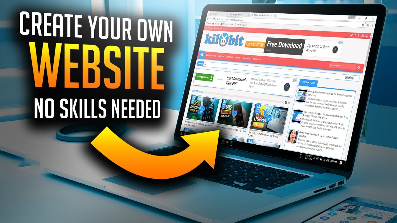 How to create your own website without skills anyone can Where can i make a website