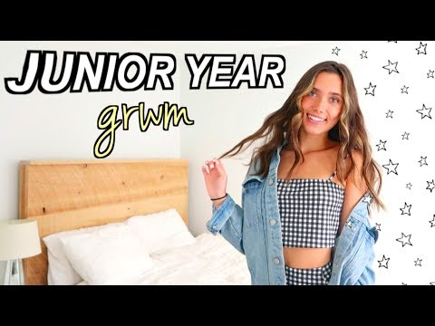 GET READY WITH ME: FIRST DAY OF HIGH SCHOOL (Junior Year) | Hannah Meloche