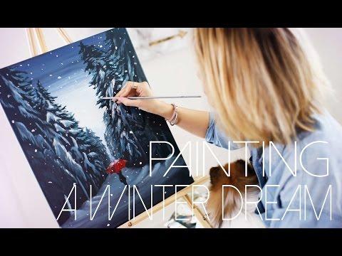 A Winter Dream: DIY Painting Tutorial | ANN LE