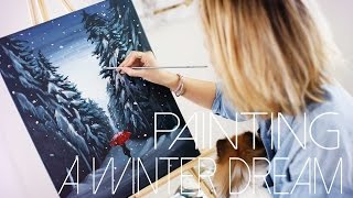 A Winter Dream: DIY Painting Tutorial | ANNEORSHINE
