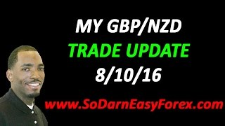 My GBPNZD Trade Update - So Darn Easy Forex