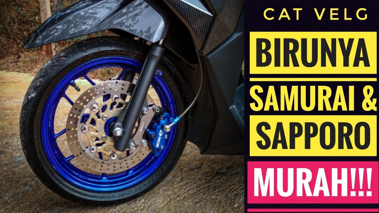 Cat velg vario biru candy Samurai Paint Sapporo Vario