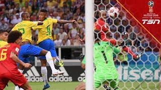 Brazil score OWN GOAL, gifting Belgium the lead in Quarterfinals