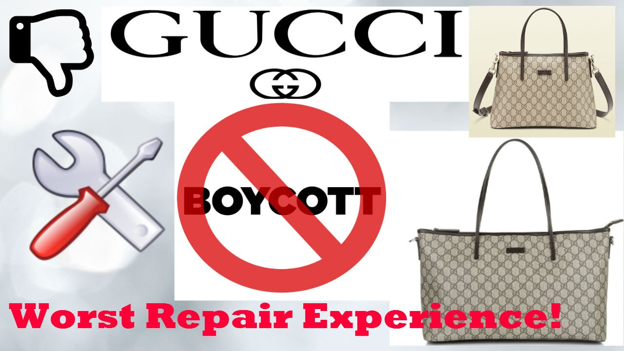 Gucci bag repair, Worst experience! - YouTube