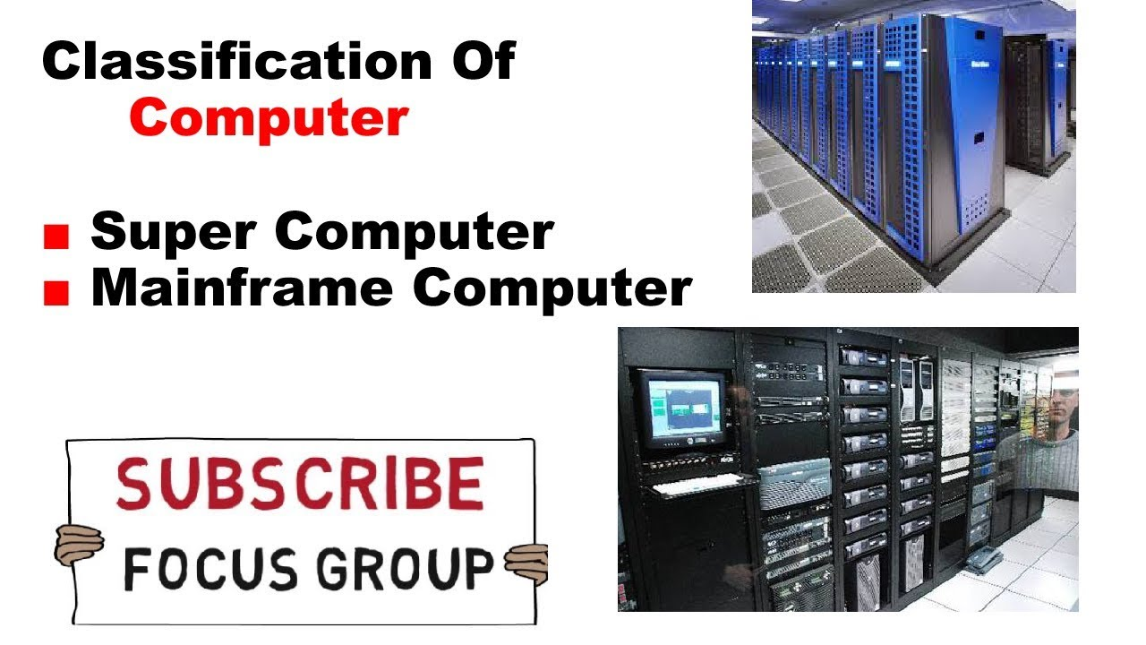 Classification Of Computer | Super Computer & Mainframe Computer ...