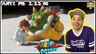 Super Mario Odyssey Speedrun Any% PB: 1:12:06