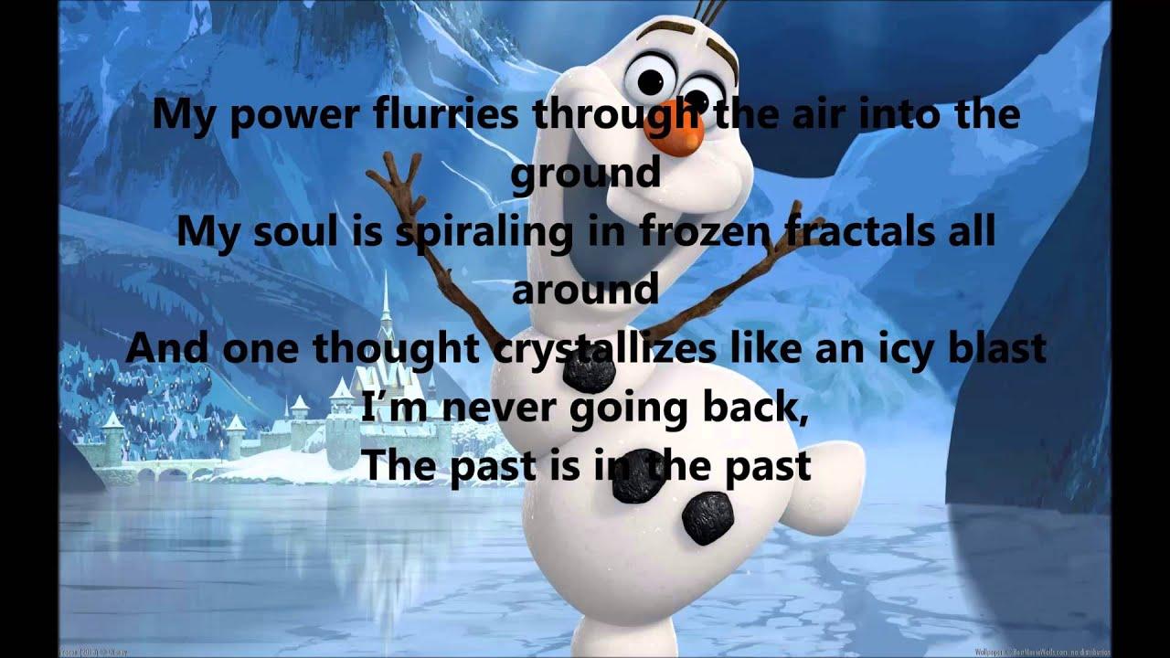 Frozen- Let it go with lyrics - YouTube