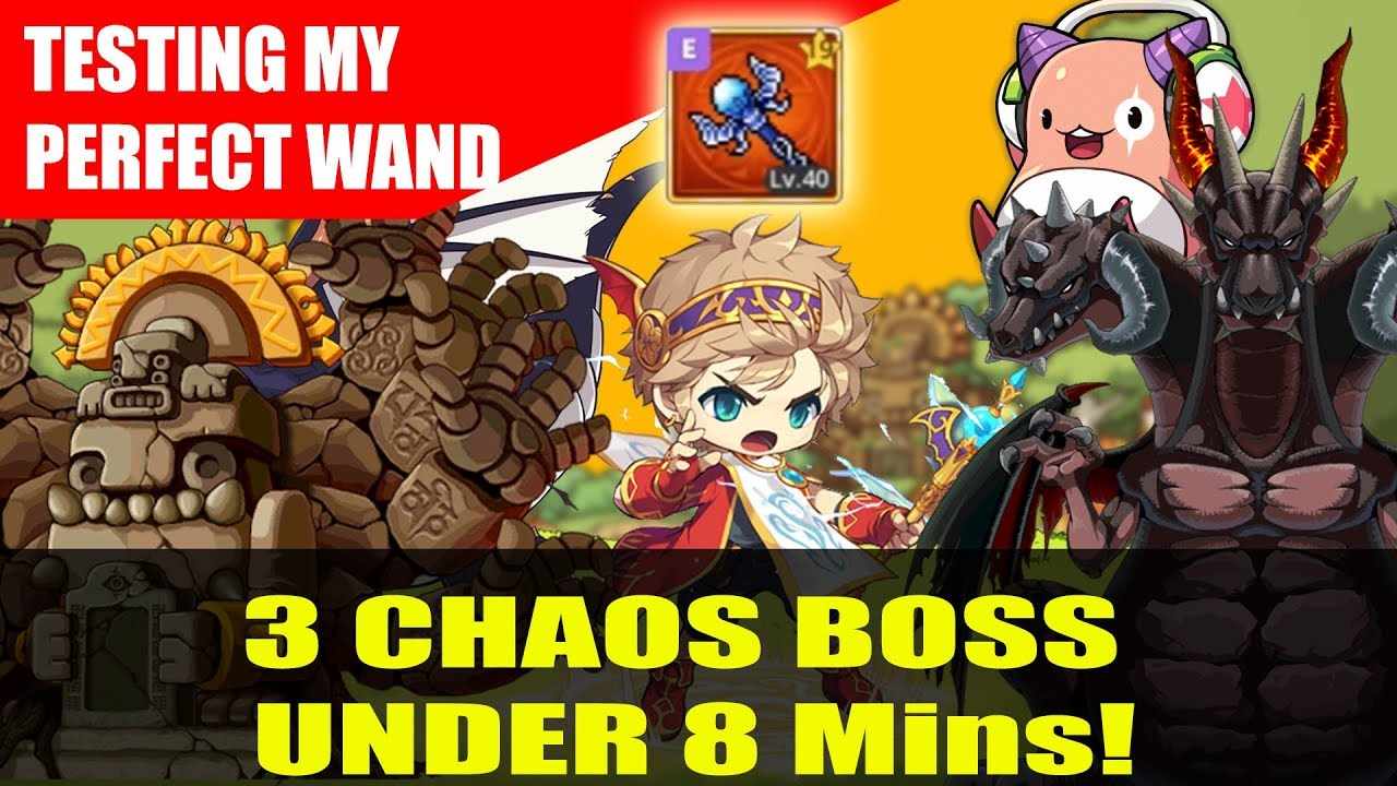 Maplestory m - My Perfect Wand Testing on Chaos Bosses - Evan