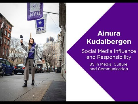 Ainura Kudaibergen: Social Media Influence & Responsibility | Media, Culture & Communication Profile